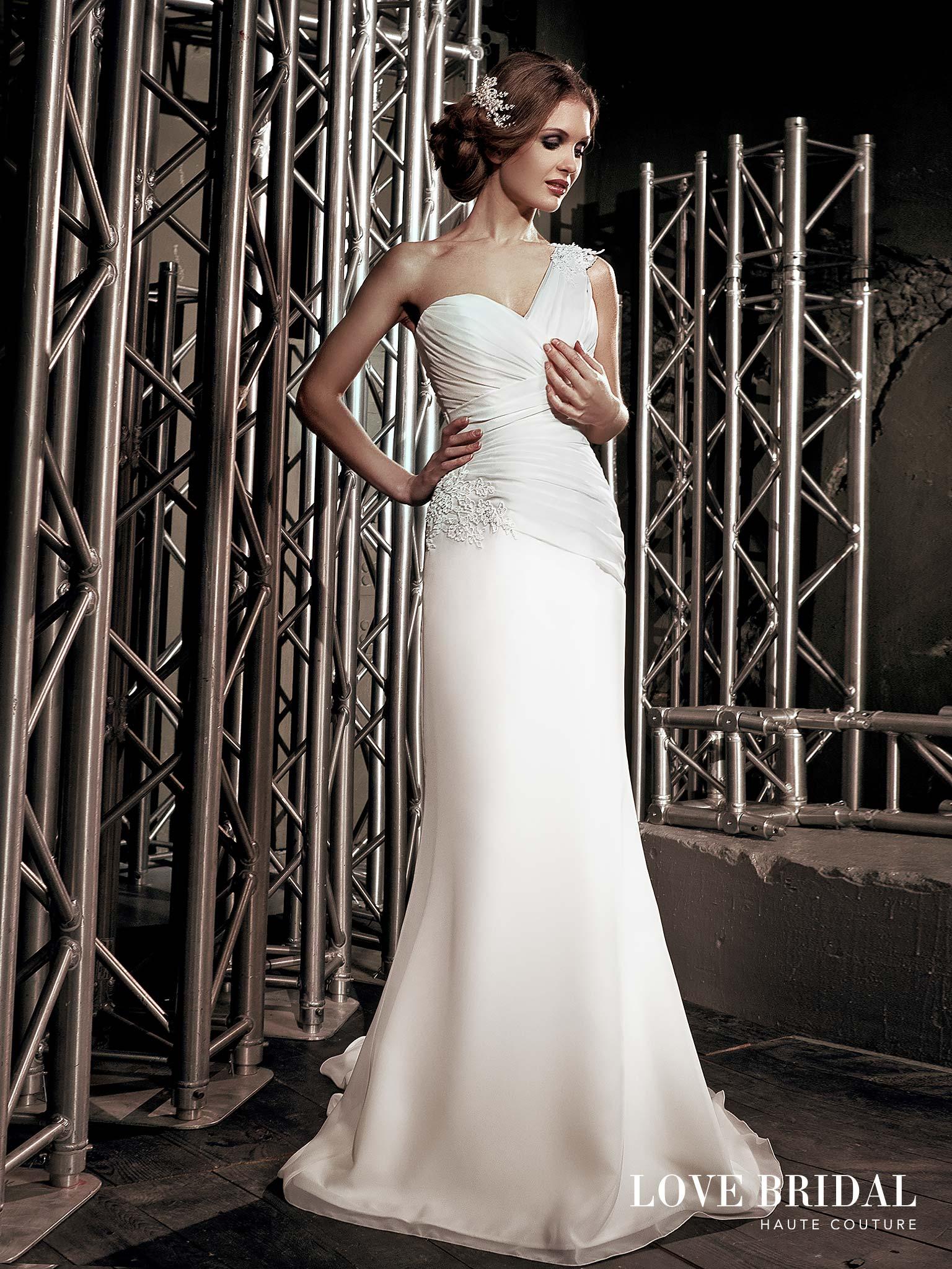Купить свадебное платье на одно плечо Love Bridal