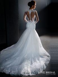 Купить кружевное свадебное платье русалка в Москве Love Bridal арт.13579