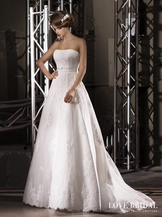 Купить кружевное свадебное платье а-силуэта Love Bridal арт.13588