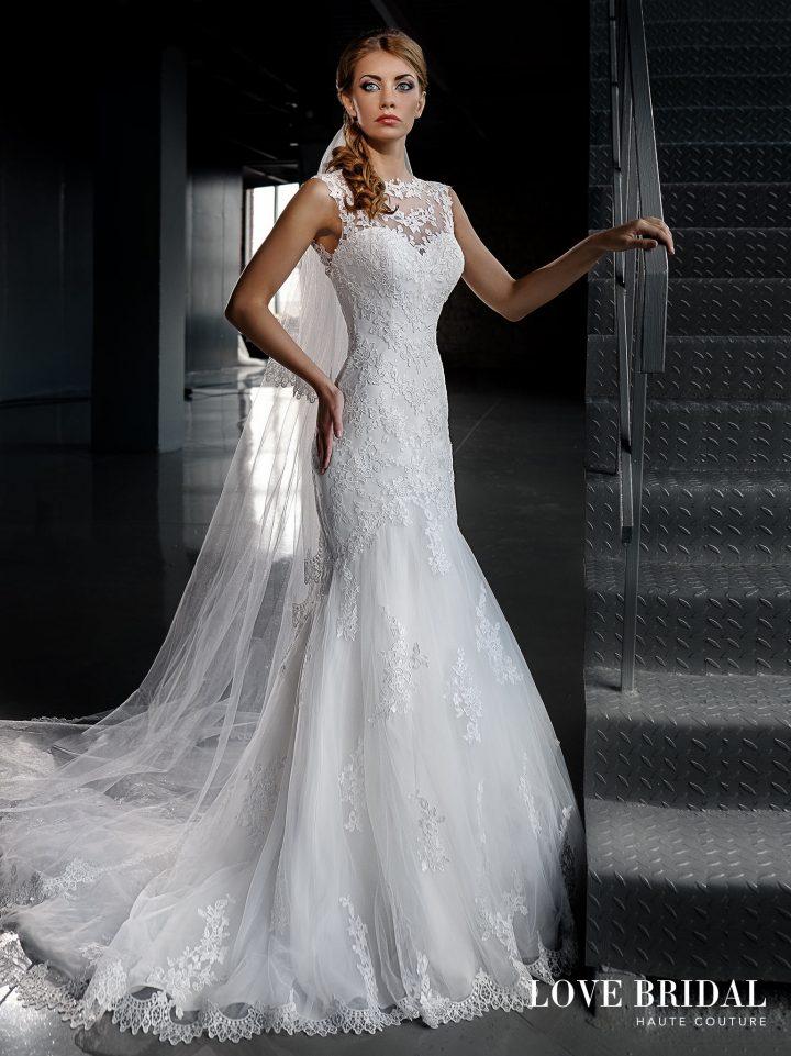 Купить кружевное свадебное платье русалка от Love Bridal арт.14206