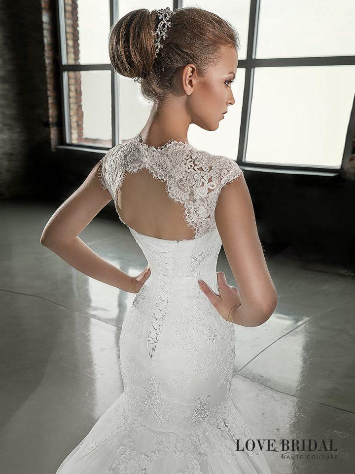 Купить кружевное свадебное платье русалка Love Bridal со съемным верхом