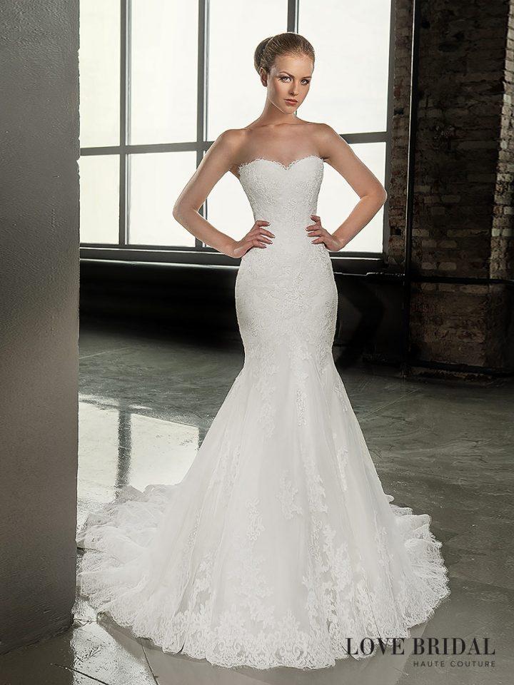Купить кружевное свадебное платье русалка Love Bridal
