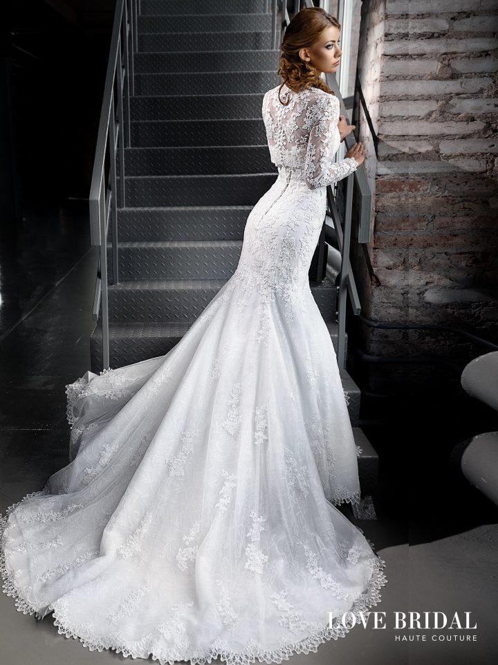 Купить кружевное свадебное платье русалка в Москве Love Bridal арт. 14209