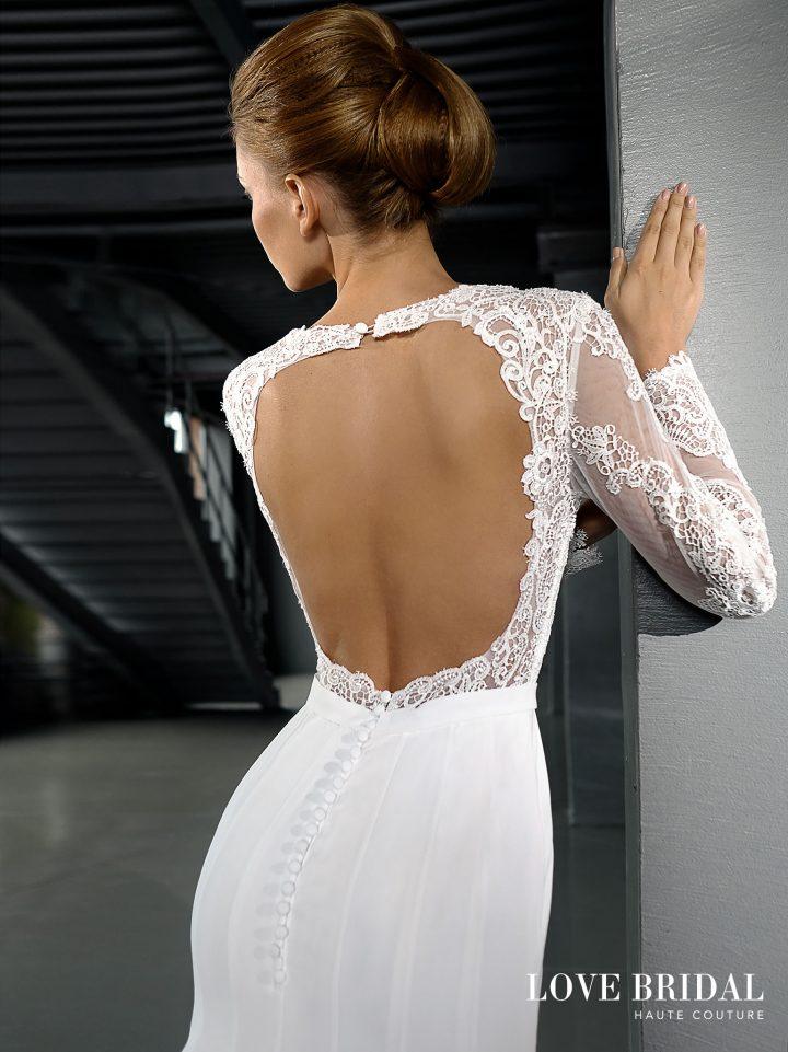 Купить легкое свадебное платье а-силуэта Love Bridal арт.14212