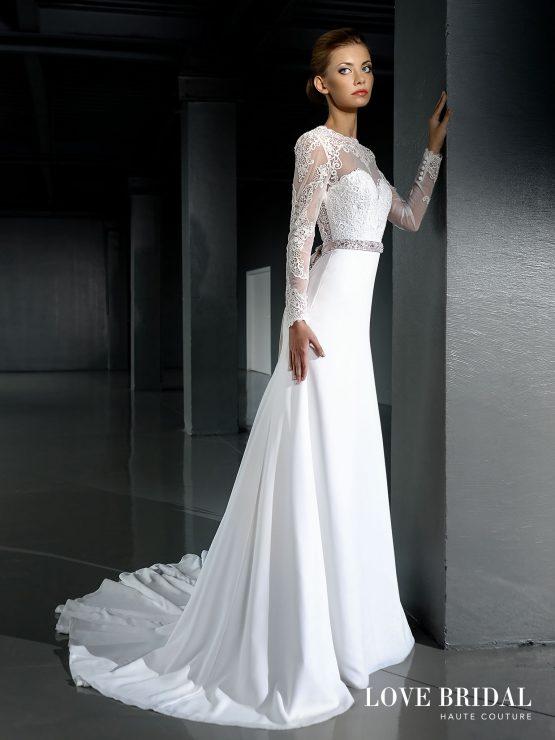 Купить кружевное свадебное платье а-силуэта Love Bridal арт.14212