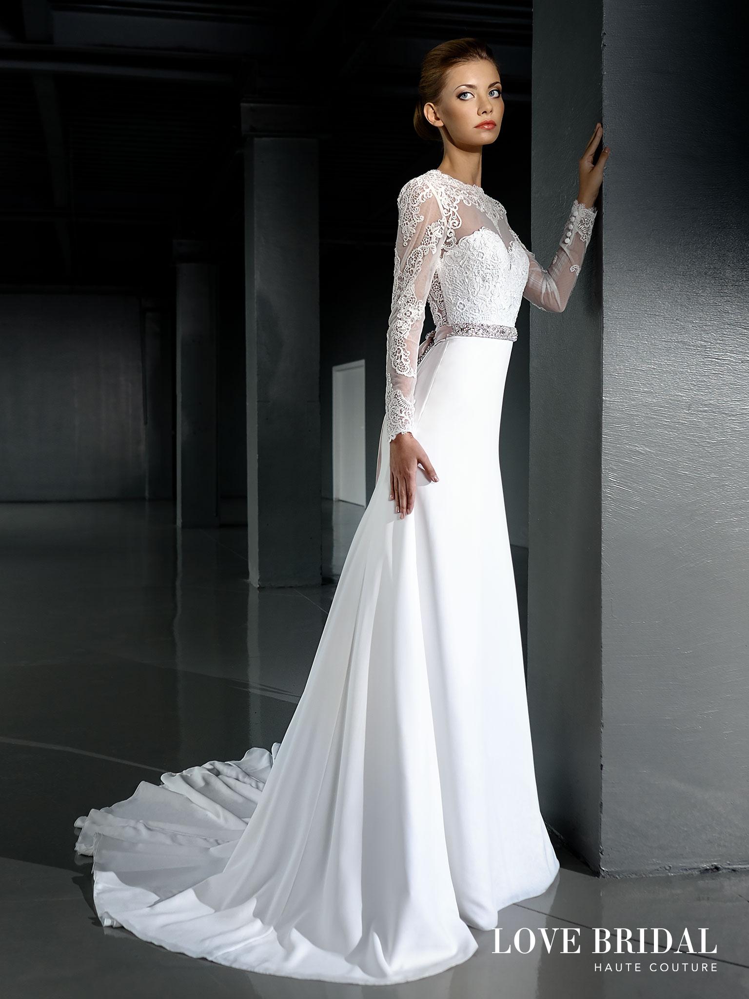 042bd480a2e Купить кружевное свадебное платье а-силуэта Love Bridal арт.14212