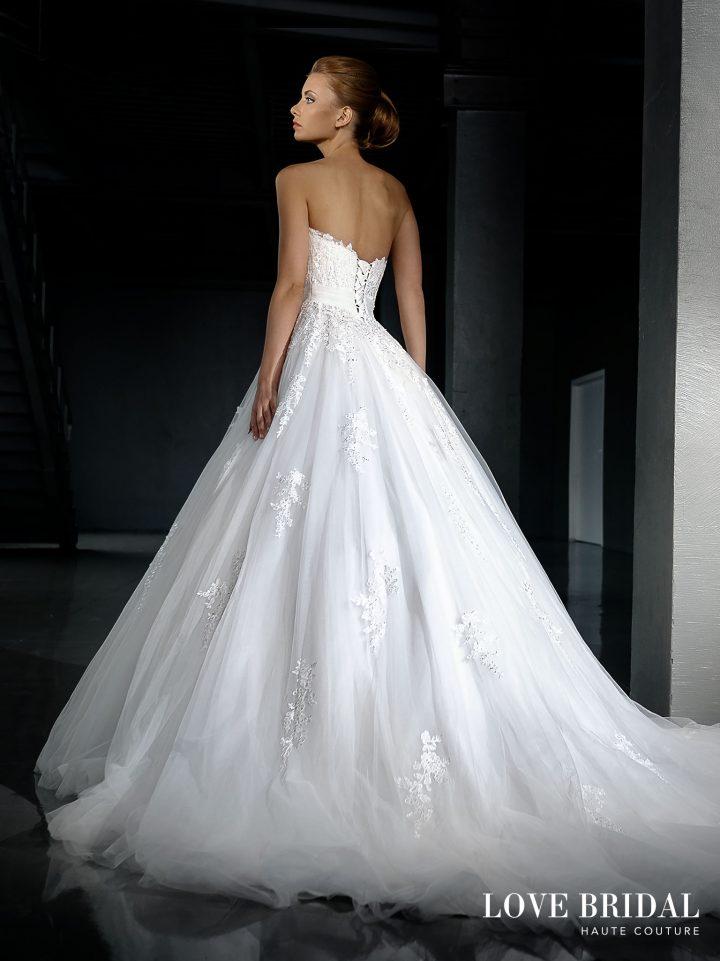 Купить пышное свадебное платье с открытым верхом Love Bridal арт.14218
