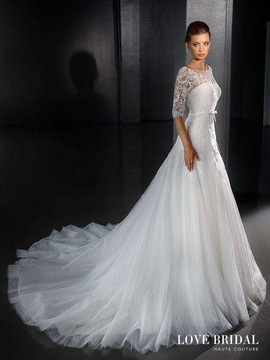 Купить свадебное платье кружевное с рукавами от Love Bridal арт.14220