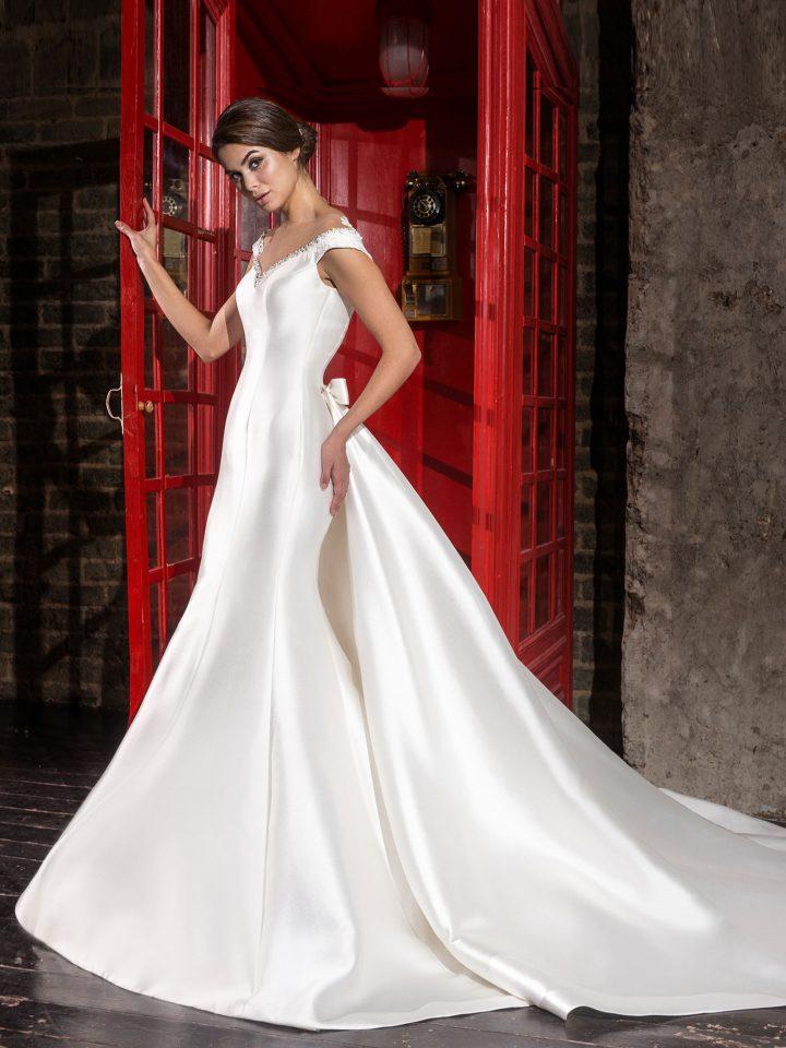 Атласное свадебное платье русалка от Love Bridal