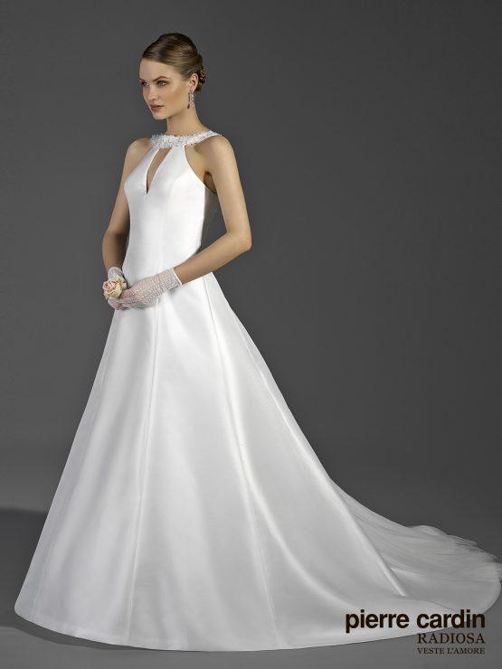 Свадебное платье pierre cardin а-силуэтное из тафты микадо закрытый верх и открытая спинка