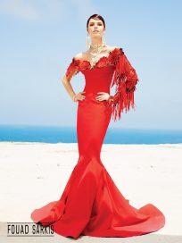 Купить вечернее платье Fouad Sarkis русалка кружево арт.(3440)