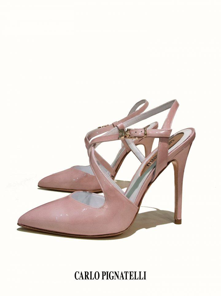 Свадебные туфли пудрового цвета Carlo Pignatelli