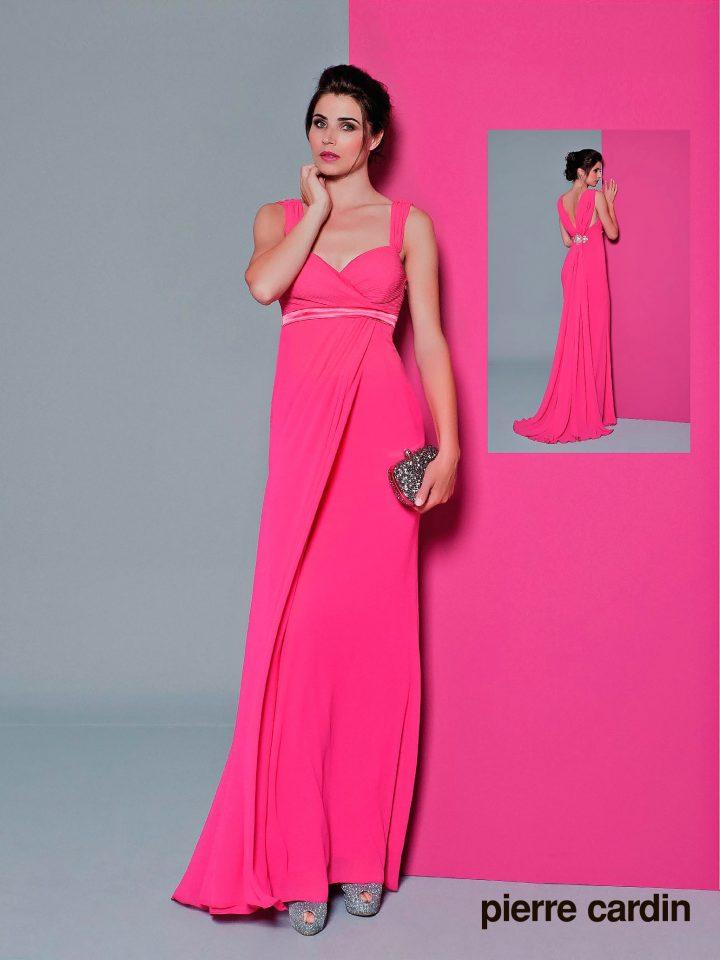 Вечернее платье Pierre Cardin, шофоновое синее
