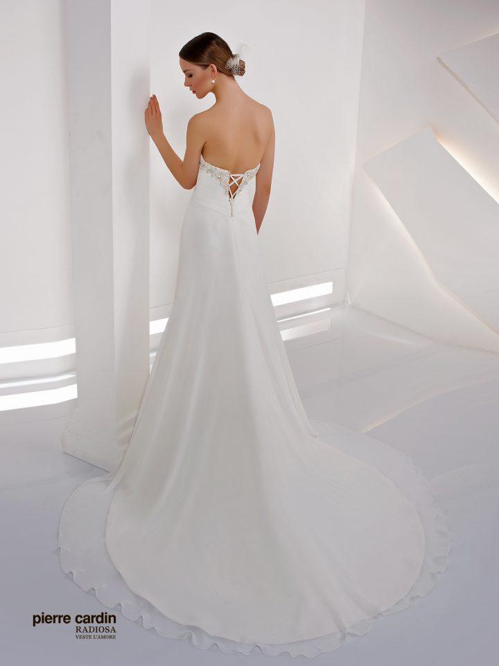 Свадебное платье шифоновое прямое Pierre Cardin (арт.8426)