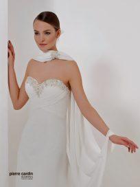 Свадебное платье шифоновое расшитое прямое Pierre Cardin (арт.8426)