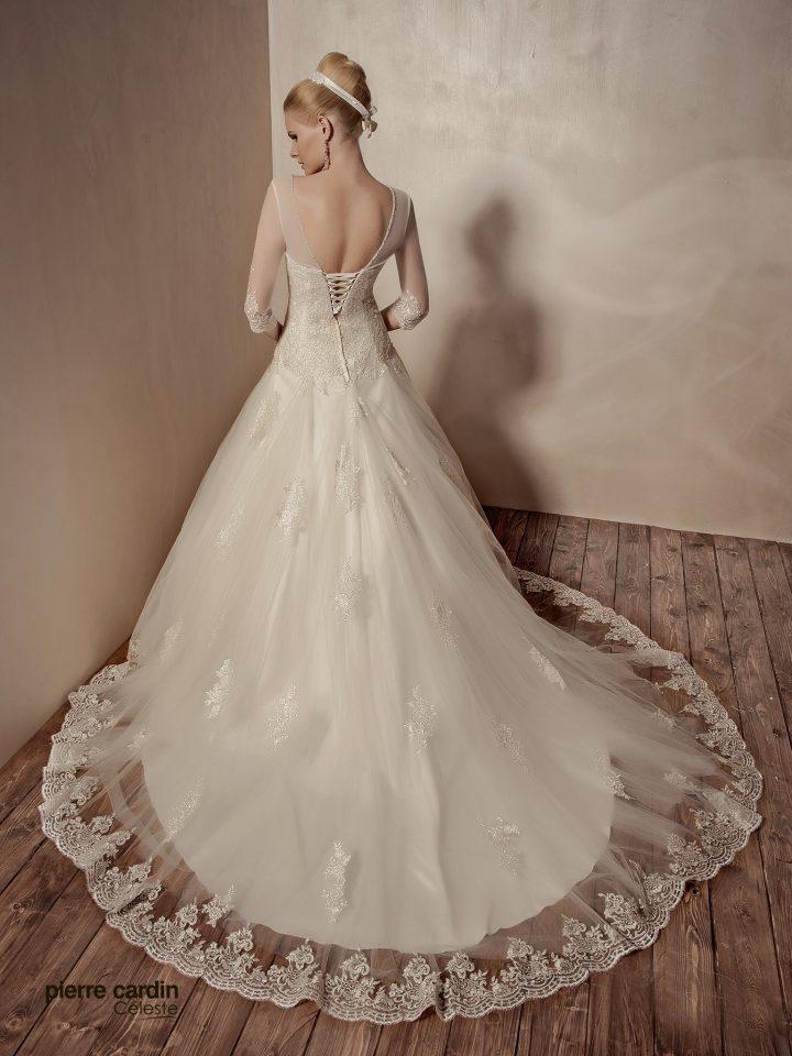 Купить свадебное платье кружевное с рукавами Pierre Cardin (арт.9438)