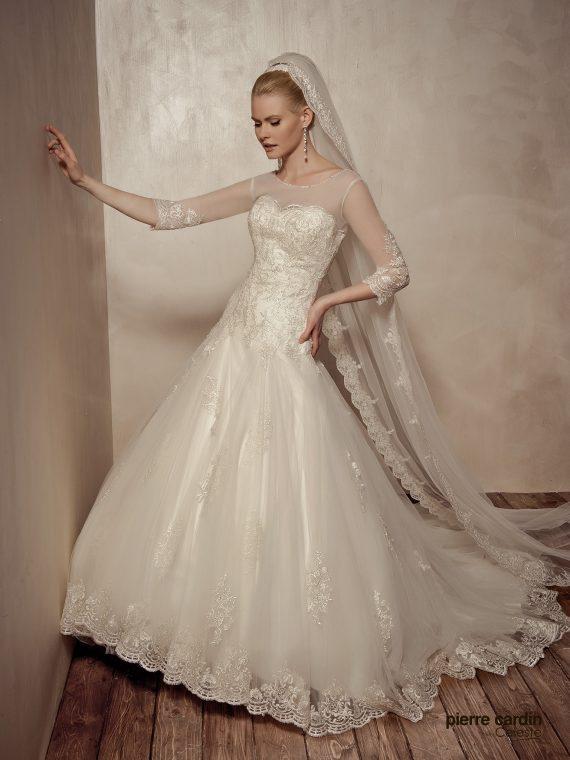 Купить свадебное платье кружевное Pierre Cardin (арт.9438)