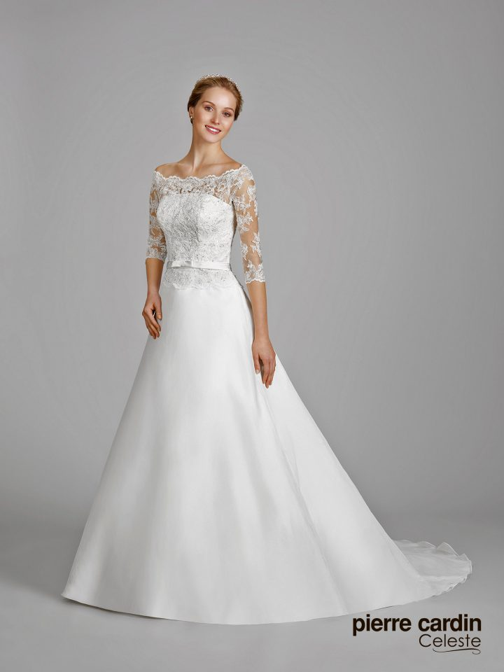 Купить свадебное платье а-силуэт с рукавами Pierre Cardin (арт.9645)