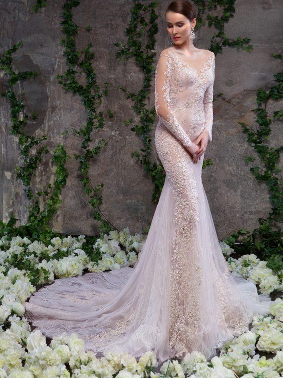 Кружевное свадебное платье с рукавами Аллегра от SVETLANA LYALINA