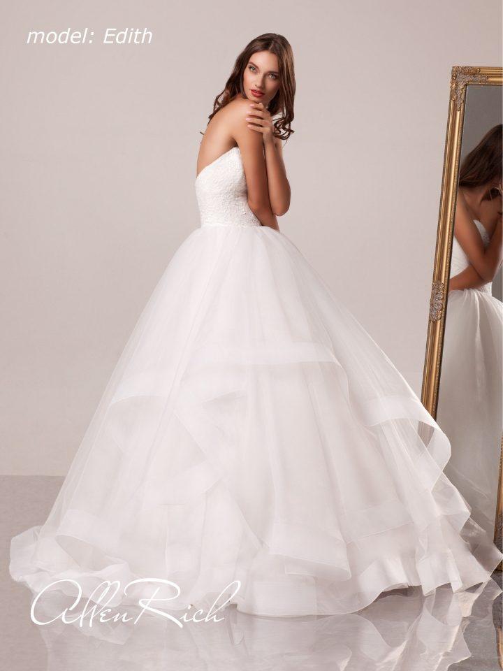 Открытое свадебное платье принцесса Edith