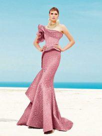 Купить вечернее платье русалка с баской Fouad Sarkis арт.3455
