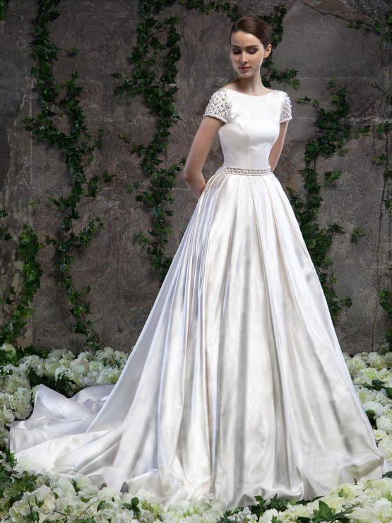Атласное свадебное платье Svetlana Lyalina