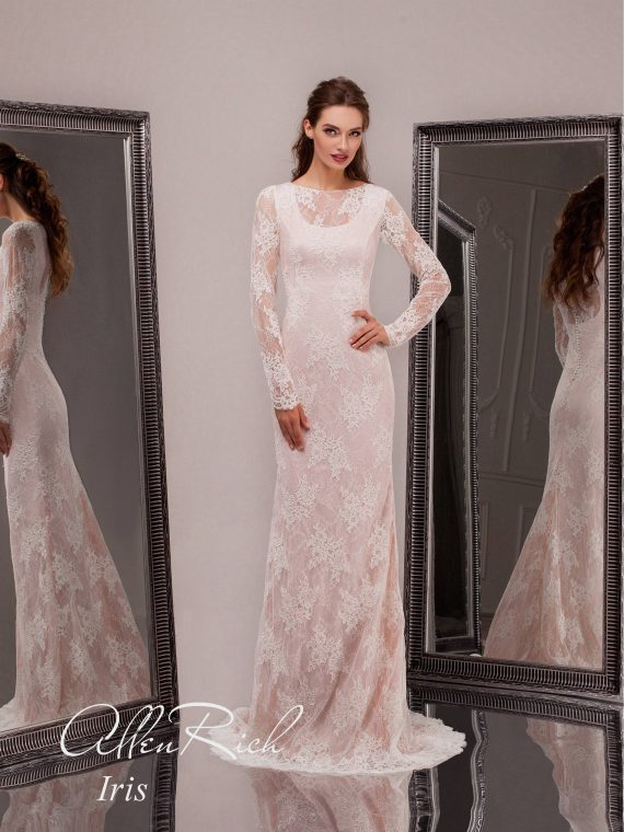 Закрытое кружевное платье арт.Iris