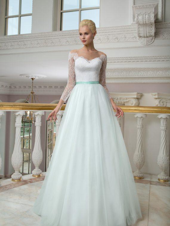 Свадебное платье мятного цвета