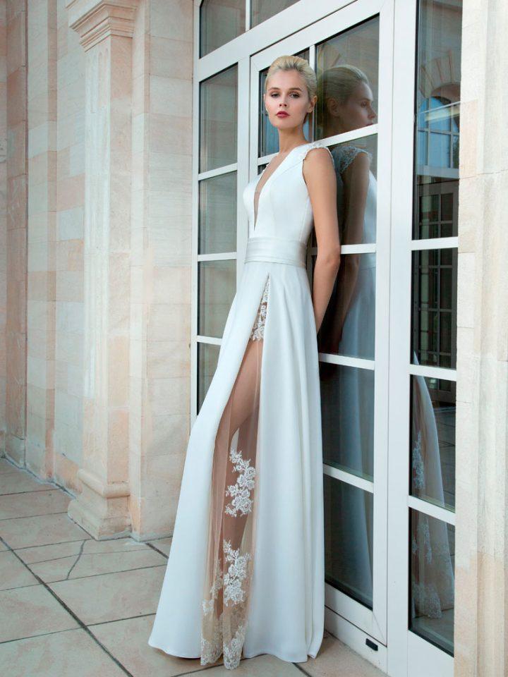 Стильное свадебное платье с разрезом Olga Sposa