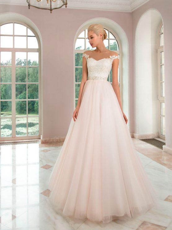 Кружевное свадебное платье Olga Sposa с поясом
